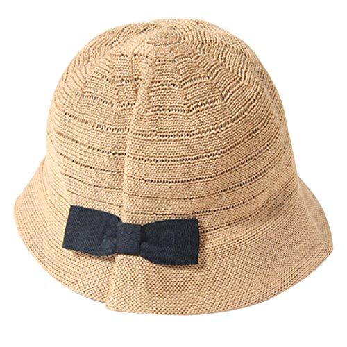 ZUMUii Butterme Summer Enfants Enfants Folding bowknot Chapeau de Paille Bébés filles garçons Protection UV Chapeau Chapeau de soleil