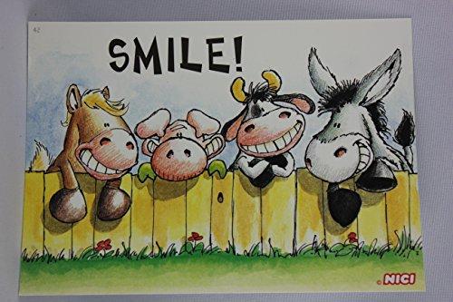 Nici - 60044 - Postkarte, Nr. 42, Freundschaft Liebe, Tiere, Smile!