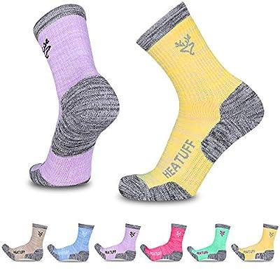 Heatuff Womens 6 Pack Hiking Crew Socks Performance Athletic Cushion Outdoor Trekking Sock