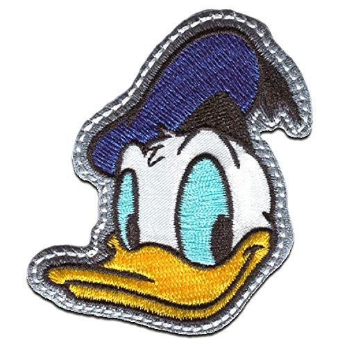 Aufnäher/Bügelbild - Mickey Mouse Micky & Freunde 'Donald Duck' Disney - blau - 6,5x5,8cm - Patch Aufbügler Applikationen zum aufbügeln Applikation Patches Flicken