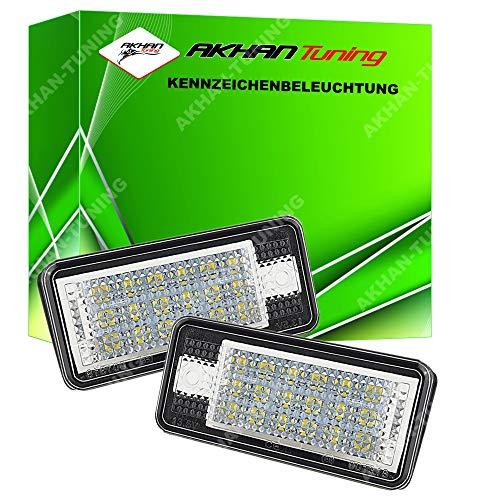 akhan kbadpa – Plaque Minéralogique à LED Modules Unité complète Plug N Play Convient pour Audi A3 8P, A3 Cabrio, A8 S8 4E, A4 S4 B6 B7, A6 C6 (4 F), Q7, RS6/RS6 Avant, A5, A5 Cabriolet