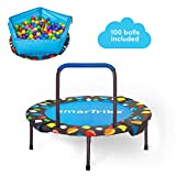 smarTrike 3-in-1 Kinder Trampolin für Zwei Kinder Indoor/Outdoor, Blau
