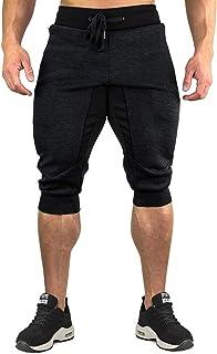 CRYSULLY Men's 3/4 Joggers Pants Workout Capri Shorts...