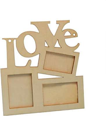 Love Wood Frame - Axier DIY Painting Picture Photo Frame Home Art Decor