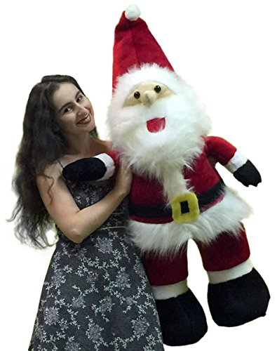 American Made Giant Stuffed Santa Claus 4 Foot Soft Oversized Christmas Plush 48 Inches New