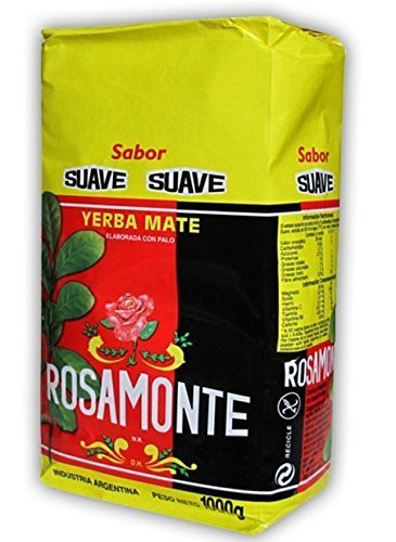 Yerba Mate Rosamonte Suave 1000 g, Mate Tee aus Argentinien