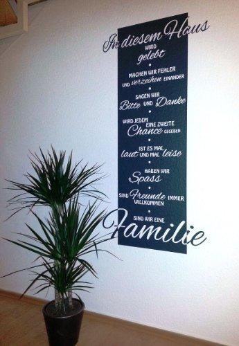NEU - Wandtattoo Banner ***In diesem Haus wird gelebt...*** (Breite 50cm x Höhe 95cm) erhältlich in 27 Farben und 4 weiteren Größen