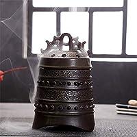 香炉、香のホルダー手作りセラミック蓮の香炉ホルダー中国の古典的なスタイルの家の装飾の家の装飾のための伝統的な技術 (Color : Bronze, Size : 10.5x15.5cm)