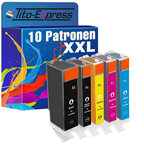 Tito-Express PlatinumSerie 10 Patronen XXL kompatibel mit Canon PGI-570 XL & CLI-571 XL | Für Pixma MG-5750 MG-5751 MG-5752 MG-5753 MG-6850 MG-6851 MG-6852 MG-6853 MG-7750 MG-7751 MG-7752 MG-7753