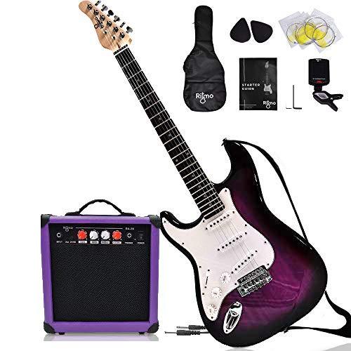 Complete Full Size 39 Inch Left Handed Guitar and Amp Bundle Kit for Beginners-Starter Set Includes 6 String Tremolo Guitar, 20W Amplifier w/Distortion, 2 Picks, Shoulder Strap, Tuner, Bag Case - Red