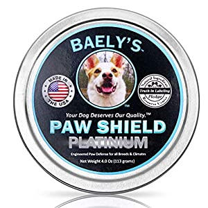 Dog Paw Balm – Compare our 4 oz to their 2 oz – Trust the Original Paw Shield Made in America Relief for Raw Dry Rough Paws| Wax Protector for Mushers | Secret All-Natural Relief for Hot and Cold Paws