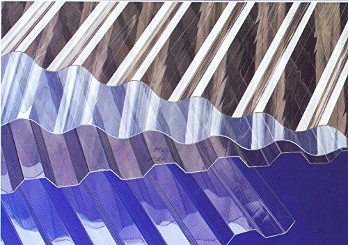Lichtplatten Polycarbonat - Profil 76/18 Sinus (Welle) * Länge: 2000 mm - Breite: 1140 mm - Nutzbreite: 1064 mm * Stärke 0,8 mm * glasklar * Euro 10,90/m²