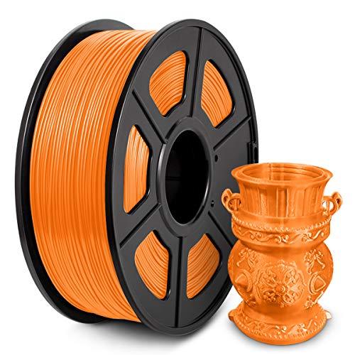 Filamento PLA 1,75 mm, Filamento PLA para impresora 3D, Filamento PLA 1 KG (2,2 lb) PLA Naranja