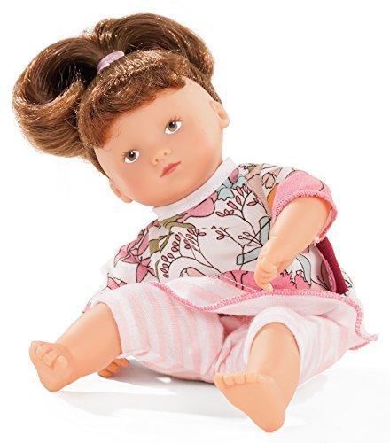 Götz 1687224 Mini-Muffin Jungle - 22 cm große Weichkörperpuppe mit gemalten braunen Augen und braunen Haaren - 3-teiliges Set bestehend aus der Puppe und der Bekleidung - geeignet für Kinder ab 18 Monaten