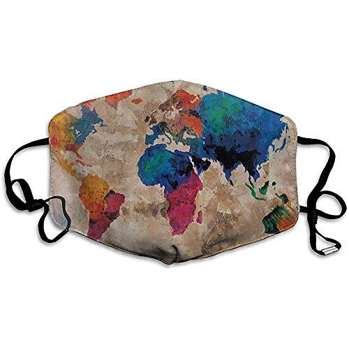 Awwr Vintage Colorido Elegante Mundo Mundial Mapa