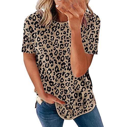 Drcuken Damen Oberteile Sommer Kurzarm Blusen T-Shirt V-Ausschnitte Loose Oversize Shirt Retro Blumen Drucken Frauen Bluse Tops Casual Bedruckt Asymmetrisch Oberteile Top Mode Tunika Top