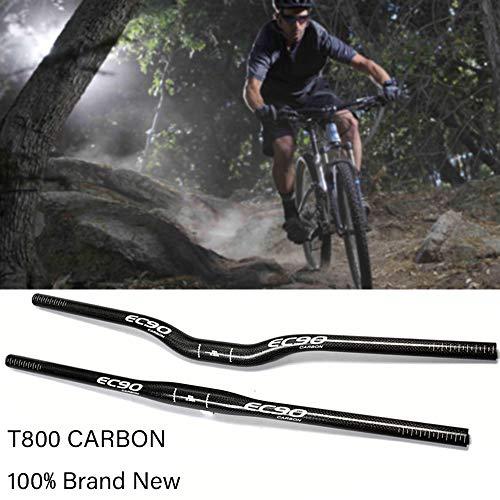 Pn&cc MTB Lenker, Carbon-Leichtbau Bike steigen Lenker für 31.8mm Mountainbike Rennrad Folding Fahrrad-Lenker (Bright Black),Flat,620mm
