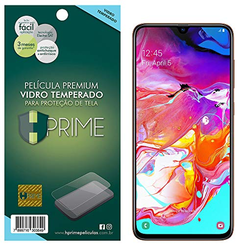 Pelicula de Vidro temperado 9h HPrime para Samsung Galaxy A70, Hprime, Película Protetora de Tela para Celular, Transparente
