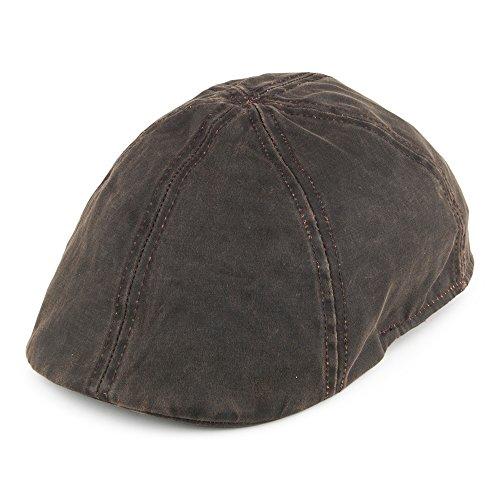 Village Hats Casquette Plate Bec-de-Canard en Coton à Effet Usé Dorfman Pacific - Large/X-Large