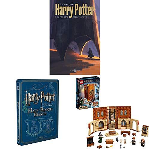 Harry Potter E Il Principe Mezzosangue (Steelbook + Libro) + LEGO Harry Potter Lezione di Trasfigurazione a Hogwarts, Playset
