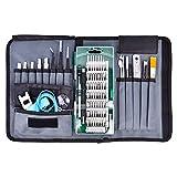 Kit de destornilladores magnéticos de precisión 60 en 1 con mango antideslizante para electrodomésticos electrónicos, color verde