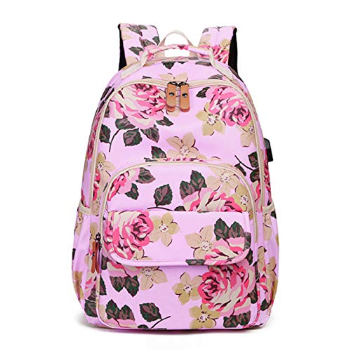 Laptop Backpack,Backpack Womens, 14 Inch Stylish College School Backpack, With USB Charging Port, Water Resistant Casual Daypack Laptop Backpack for Women/Girls/Travel/Business