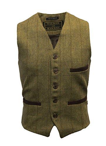 Walker & Hawkes - Veston de Costume en Tweed - pour Homme - Protection au téflon - Formel - Sauge Clair - L