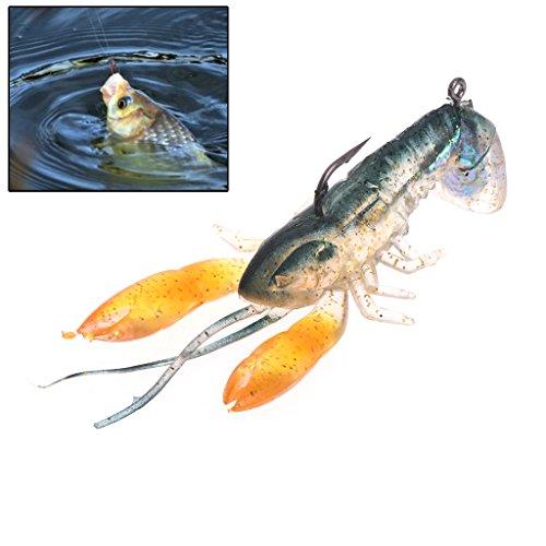 Lergo Angelköder, künstlicher Hummer, weicher Köder, Haken, Garnelenkralle, Krabben, Schwimmköder, 14 g, 8 cm