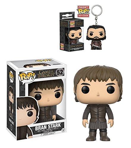 Funko POP! Juego de Tronos: Bran Stark + Jon Snow Pocket POP!