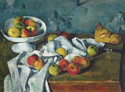 Das Museum Outlet–Stillleben mit Obst Gericht, Äpfel und Brot, 1880, gespannte Leinwand Galerie verpackt. 40,6x 50,8cm