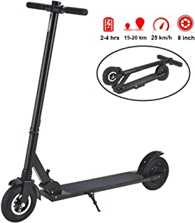 TOXOZERS Folding Scooter Adult 250w IP55 Electric Scooter,LED Display with One-Button Start,12.4 Miles Range Battery,Up to 15.5 MPH ltra-Lightweight Mini Scooter