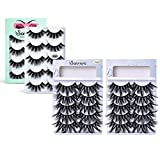 Soararc False Eyelashes Dramatic 5D Faux Natural Mink Eyelashes for Women, Girls Soft Volume Fluffy Handmade Reusable Long Fake Eyelashes 15 Pairs