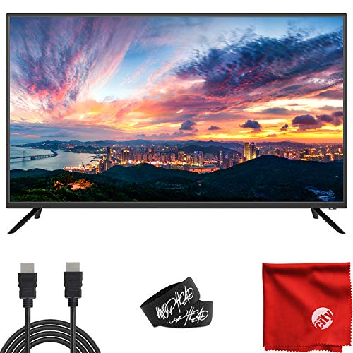 Sansui 40-Inch 1080p FHD DLED TV (S40P28F) Lightweight Slim Built-in with HDMI, USB, VGA, High Resolution Bundle with Circuit City 6-Feet Ultra High Definition 4K HDMI Cable and Accessories