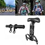 Heroicn Seggiolino per Bambini MTB per Bambini e Manubrio, seggiolini per Biciclette Anteriori con Pedali, Montaggio e rimozione Facili, Adatto per Mountain Bike per Adulti