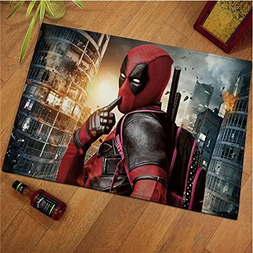 LGXINGLIyidian Alfombra Alfombra Antideslizante Marvel Superhero Iron Man Spiderman Capitán América Dormitorio Sala De Estar Alfombra M-1171A 80X150Cm