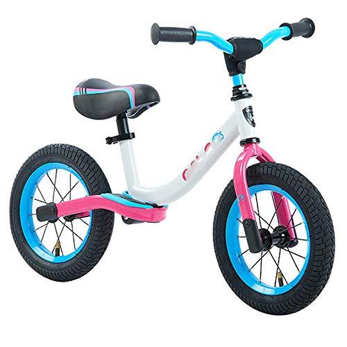 YSCYLY Lauffahrrad,Spielzeugauto Für 3-6 Jahre Mit aufblasbarem Rad, einstellbare Sattelhöhe,Erst Rutschrad Fahrrad FüR Jungen/MäDchen Als Geschenke