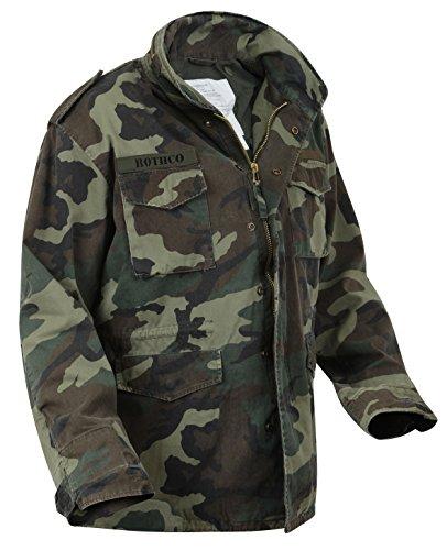 Rothco Vintage M-65 Field Jackets, XL, Woodland Camo