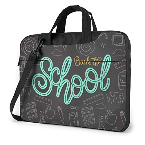 Back to School Written On The Blackboard 15.6 in Laptop Bag Computer Protective Cover Handbag Shoulder Bag