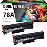 Cool Toner Compatible Toner Cartridge Replacement for HP 78A CE278A Toner HP Laserjet P1606dn 1606dn HP Laserjet M1536dnf 1536dnf MFP HP Laserjet P1566 P1560 Toner Cartridge Printer Ink (Black,2-Pack)