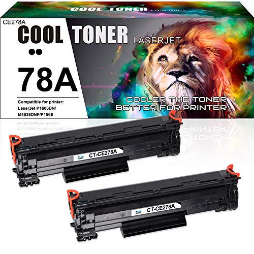 Cool Toner Kompatible Toner CE278A für HP LaserJet M1536 MFP M1536DNF P1560 P1566 P1606 P1606DN, Schwarz 2.100 Seiten