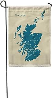 "Semtomn Seasonal Garden Flags 28"" x 40"" City Modern Map Scotland Regions UK Edinburgh United Abstract Outdoor Decorative House Yard Flag"