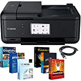 Canon PIXMA Wireless All-in-One Printer TR8520 with Printer Essentials Bundle and More