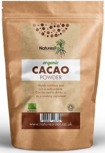 Natures Root Poudre De Cacao Cru Bio 500 g - Qualité Supérieure - Cacao brut non torréfié