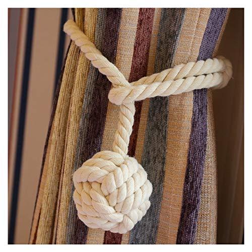 Cordones para cortina, de algodón, con bola de adorno.