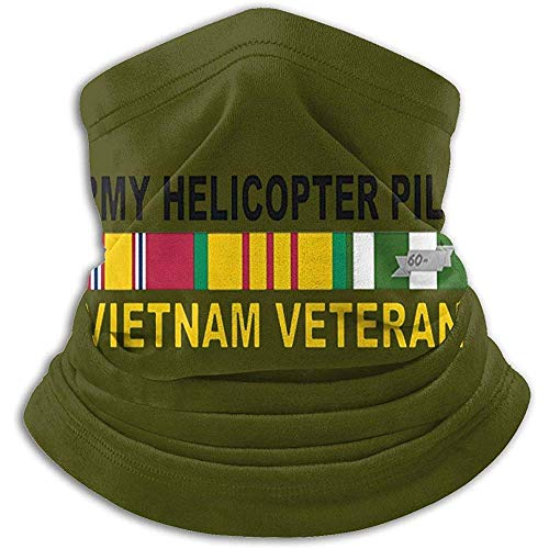 Randy-Shop US Army Hubschrauber Pilot Vietnam Veteran Unisex Fleece Halswärmer Gesicht Hals Gamaschen