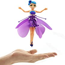 Hand Operated Drone, Flying Toys with Rechargeable Mini Infrared Induction Drone,Flying Drone Kids Toys for 4, 5, 6, 7, 8, 9, 10, 11, 12 Year Old Boys or Girls Gifts (Purple/Flying Fairy Doll)