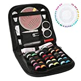 104 Pcs Premium Sewing Kit, Portable Needle and Thread Kit for Beginners, Travelers and Adults, DIY Sewing Supplies with 18 Color Threads, 24 Needles, Seam Ripper, Scissors, Thimble etc