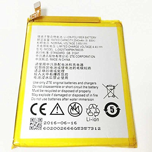 Todobarato24h Bateria Compatible con Zte Blade V7 / Compatible con Zte V770 / Dive 71/ A512 / A910 / Orange Neva 80 / Vodafone Smart Prime 7 Li3925T44P8h786035 2500 Mha