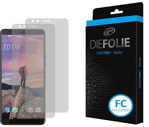 Crocfol Schutzfolie vom Testsieger [2 St.] kompatibel mit HTC U12 Plus - selbstheilende Premium 5D Langzeit-Panzerfolie -inkl. Veredelung - für vorne, ganzes Bildschirm