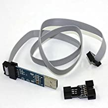HonsCreat USBasp AVR Programming Programmer Device for ATMEL Quadcopter KK2 KK2.X Update Tool With 10 Pin Cable and 6 pin adapter ATMEGA8 ATMEGA128 for Arduino